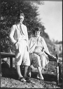 F. Scott Fitzgerald and his wife Zelda, 1921, at the White Bear Yacht Club